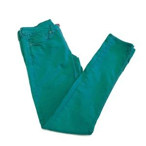 Divided H&M | Teal Green Stretch Skinny Jeans 8